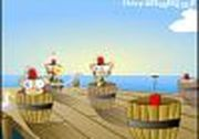 Play Shoot Monkeys in Barrels Game
