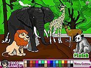 Play Animal Park Coloring Game