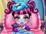 Play Baby Monster Flu Doctor Game