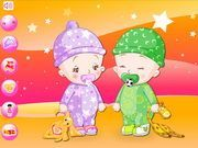 Play Baby Twins Dress Up Game