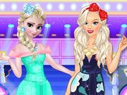 Play Barbie and Elsa Casual Fashion Game