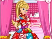 Play Barbies Christmas Patchwork Dress Game