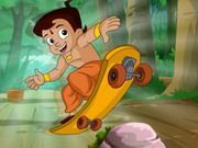 Play Chota Bheem Skate Board Game