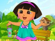 Play Cute Dora Dress Up Game