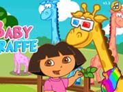 Play Dora Care Baby Giraffe Game