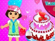 Play Dora Valentine Day Cake Game