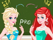 Play Elsa And Ariel Prom Contest Game