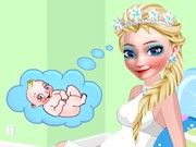 Play Elsa Frozen Mommy to Be Game