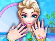 Play Elsa Frozen Nails Salon Game