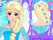 Play Elsa Royal Hairstyle Game