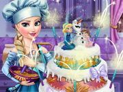 Play Elsa Wedding Cake Game