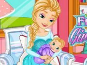 Play Frozen Elsa Gives Birth Game
