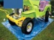 Play Green Jeep Sliding Game