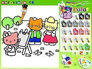 Play Hello Kitty Coloring Game