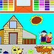 Play Kids Farm Coloring Game
