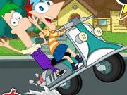 Play Phineas And Ferb Crazy Motocycle Game