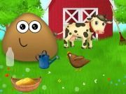 Play Pou at the Farm Game