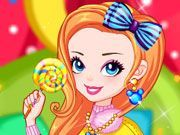 Play Rainbow Girl with Lollipop Game