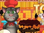Play Talking Tom Cooking Halloween Cake Game