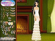 Play White And Gold Gowns Dress Up Game
