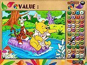 Play Winnie and Friends Coloring Math Game Game